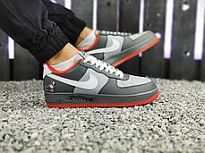 """Кроссовки Nike Air Force 1 Graffity """"Серые/Оранжевые"""", фото 3"""