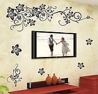 Виниловая наклейка для декора на стену цветы винограда 60*150 см