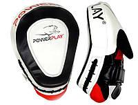 Боксерские лапы PowerPlay черно-белая (пара)