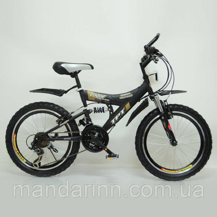 Детский Стильный спортивный велосипед двухподвес Maxima T20-7261 Black - 20 дюймов