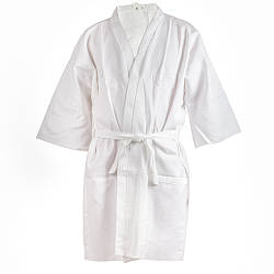 Халат хлопчатобумажный Saunapro белый женский M B-047, КОД: 270004