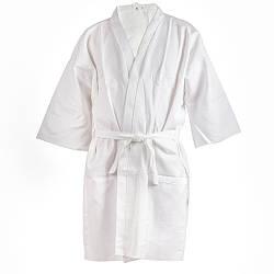 Халат хлопчатобумажный Saunapro белый женский S B-044, КОД: 270005