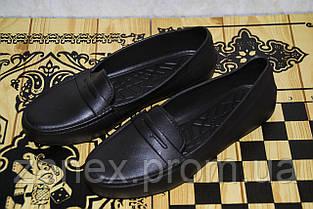 Женские мокасины из пенки, черные. Обувь из ЭВА. Непромокаемая обувь, фото 2
