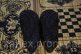 Женские мокасины из пенки, черные. Обувь из ЭВА. Непромокаемая обувь, фото 3