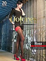 Чулки с красным кружевом Dolores Rosa 20 den