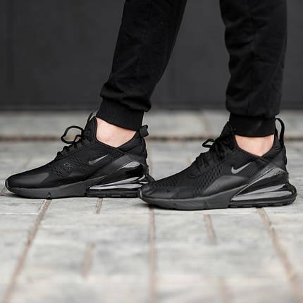 Мужские кроссовки черные Nike Air Max 270 топ-реплика, фото 2