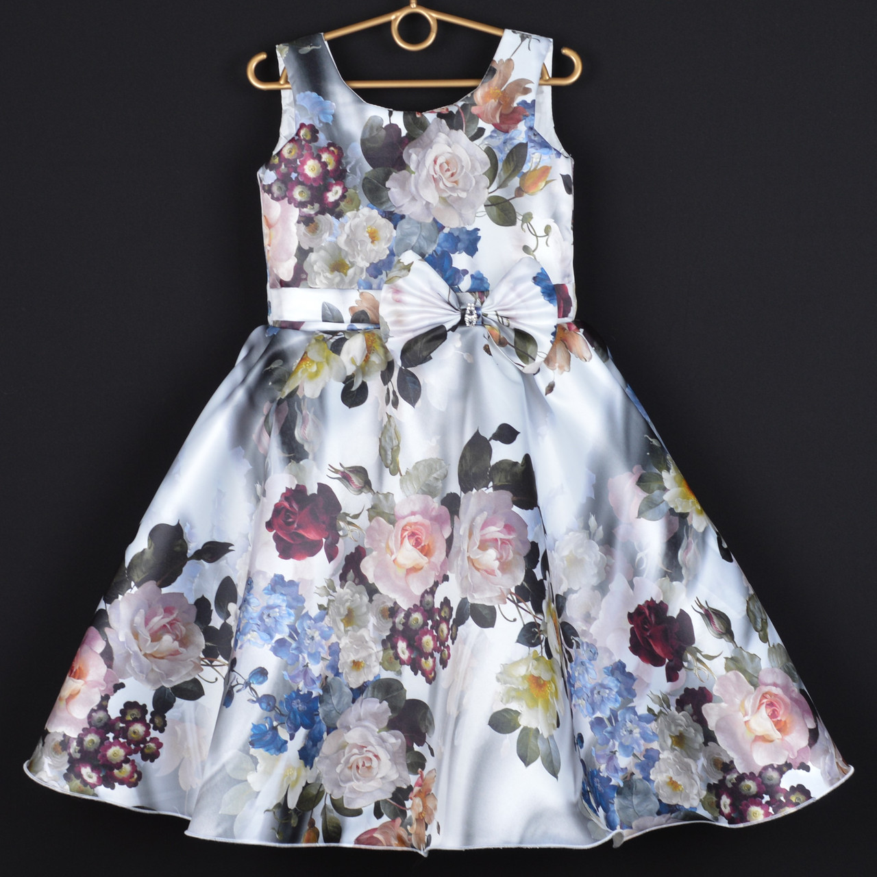 4d037061c Платье нарядное детское атласное