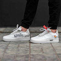 a2065356 Мужские кроссовки белые Nike Air Max Force 1 Low White x OFF-WHITE топ-