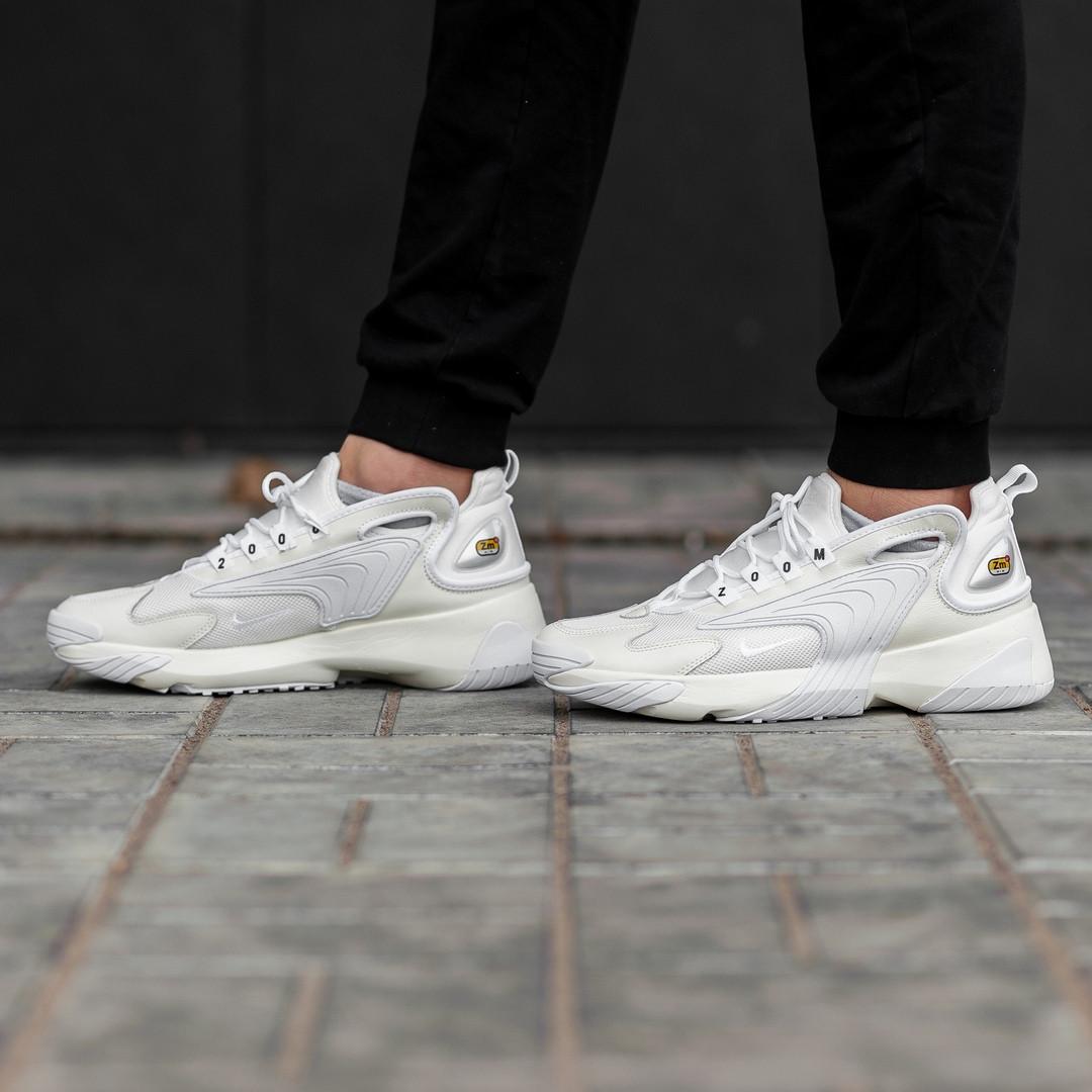 Мужские кроссовки Nike zoom 2k White топ-реплика