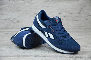 Мужские кроссовки синие Reebok топ-реплика, фото 3