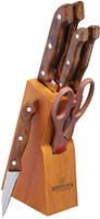 Набор ножей деревянной подставке 6 пр Bohmann BH-5102MR