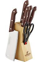 Набор ножей деревянной подставке 7 пр. Bohmann BH-5127 MRB