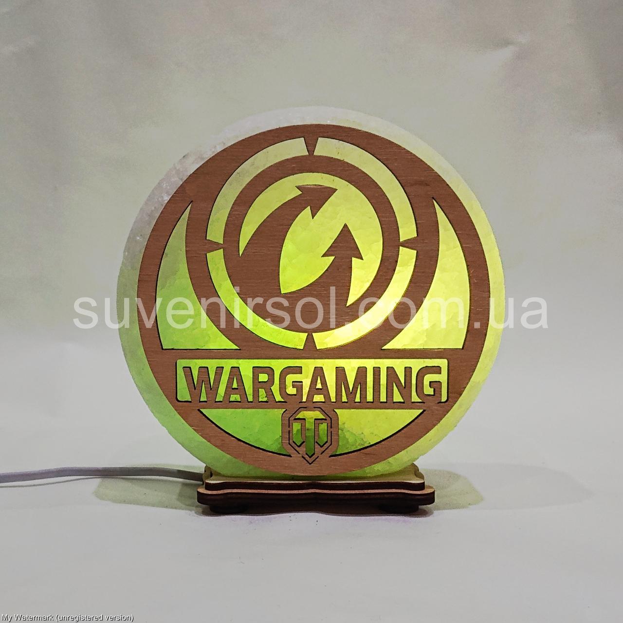 Соляной светильник круглый Wargaming