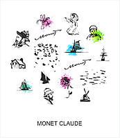 """Слайдер-дизайн для ногтей """"MONET CLAUDE"""""""