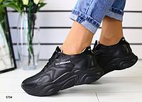 Кроссовки BALENCIAGA черные из натуральной кожи, фото 1
