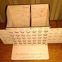 Вечный календарь-органайзер из дерева