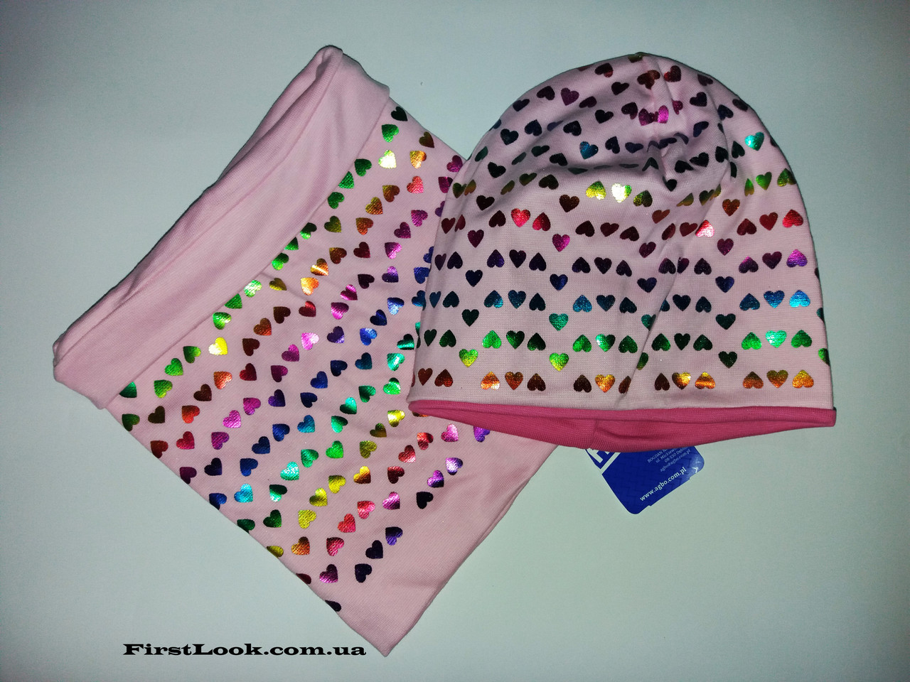 Детский комплект демисезонный шапка и снуд на девочку 4-7 лет(трикотаж)