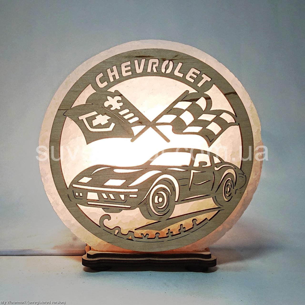 Соляной светильник круглый Chevrolet