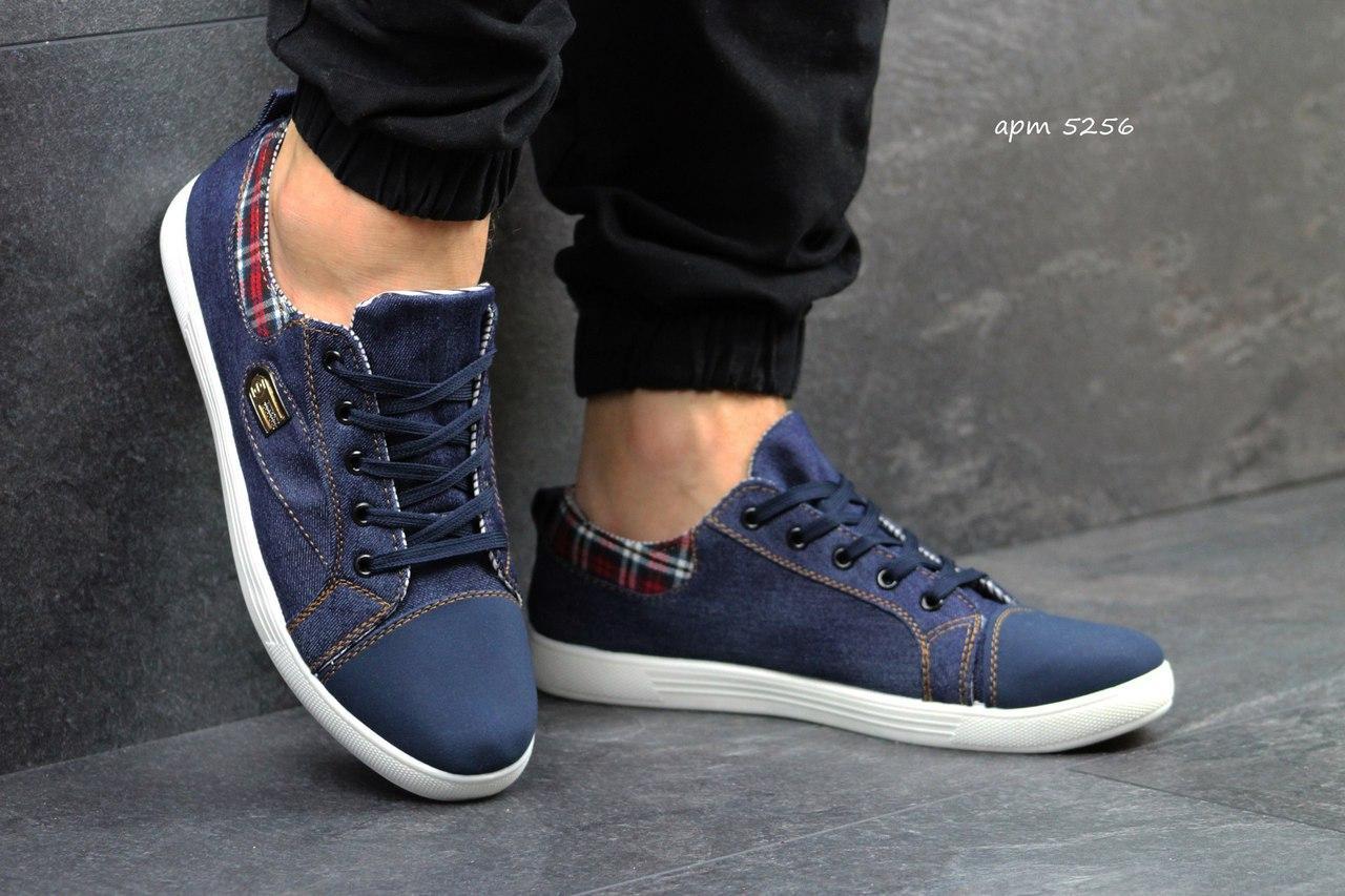 Кеды демисезонные темно-синие повседневные Gumshoes Dark Blue Textile Jeans