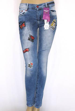 Жіночі джинси з принтами,аплікаціями,нашивками , фото 2
