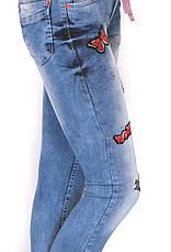 Жіночі джинси з принтами,аплікаціями,нашивками , фото 3
