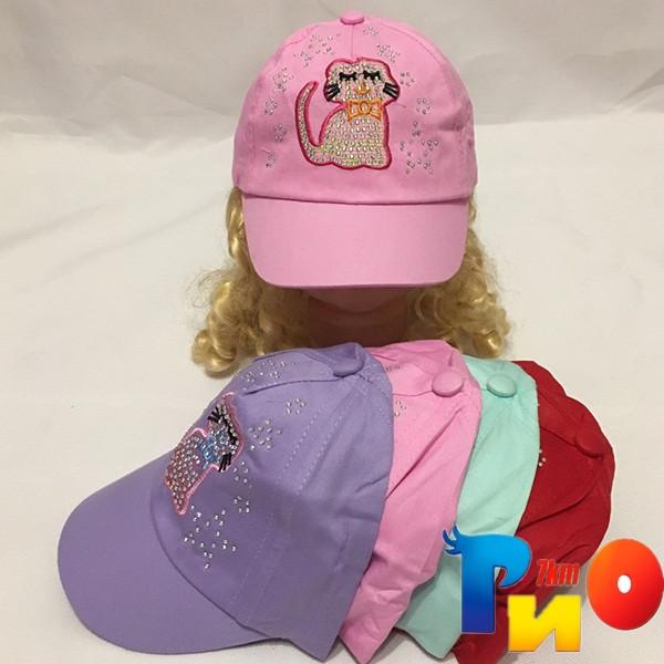 Детская  летняя кепка (100% cotton) для девочек р-р 50 (5 ед в уп) NA_2040