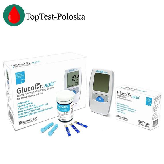 Глюкометр GlucoDr + 50 тест полосок