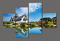 Модульная картина Тайский храм в Паттае. Тайланд 160*114 см