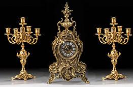 Набор Virtus Часы настольные Golfino + пара канделябров Bola на 5 свечeй бронза 5156-4020SET, КОД: 303131