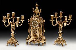 Набор Virtus Часы настольные D.Luis + пара канделябров D.Juan на 5 свечей 5136 - 4060SET, КОД: 303132