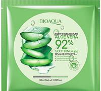 Маска для лица с алоэ вера BIOAQUA Soothing & Moisture Aloe Vera 92% Gel Face Mask (30г)