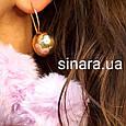 Серебряные серьги Шары с лимонной позолотой - Серьги Шары серебро, фото 3
