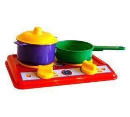 Набор посудки с конфорками, 4 предмета