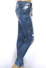 Жіночі рвані джинси занижена посадка, фото 2