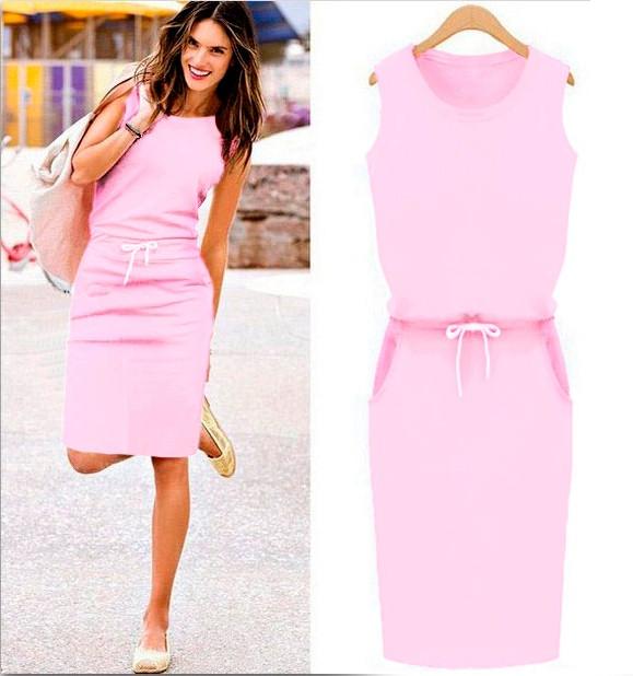 Женское спортивное платье  розовое Jenny (Код 154)