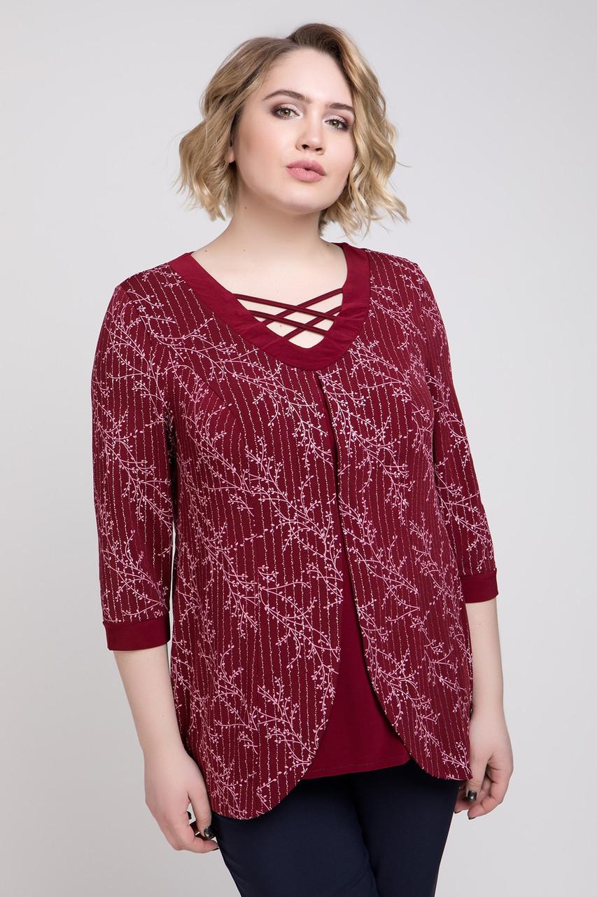 Трикотажна жіноча блуза з масла