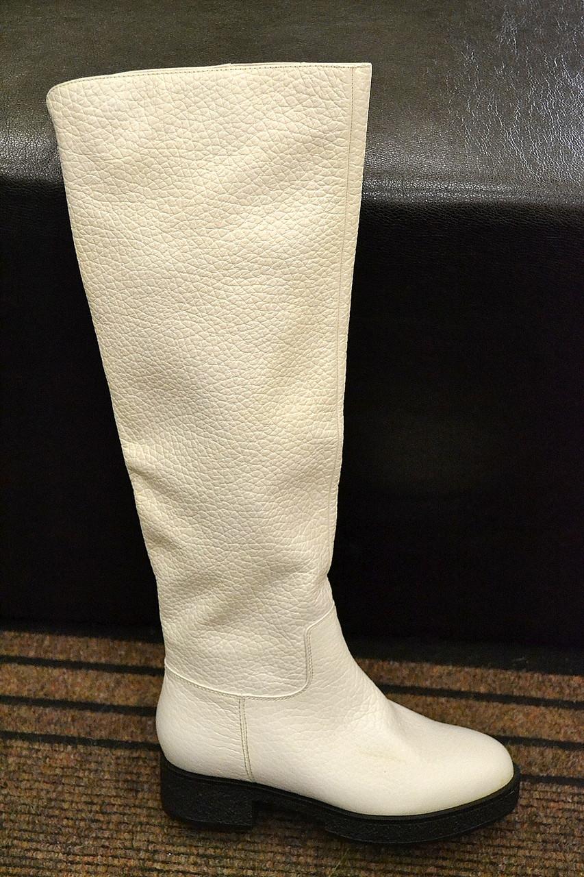 b1160927036b Сапоги женские белые Angelo Vani натуральная кожа натуральный мех
