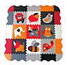 Дитячий ігровий килимок-пазл Baby Great «Веселий зоопарк» помаранчево-сірий з бортиком