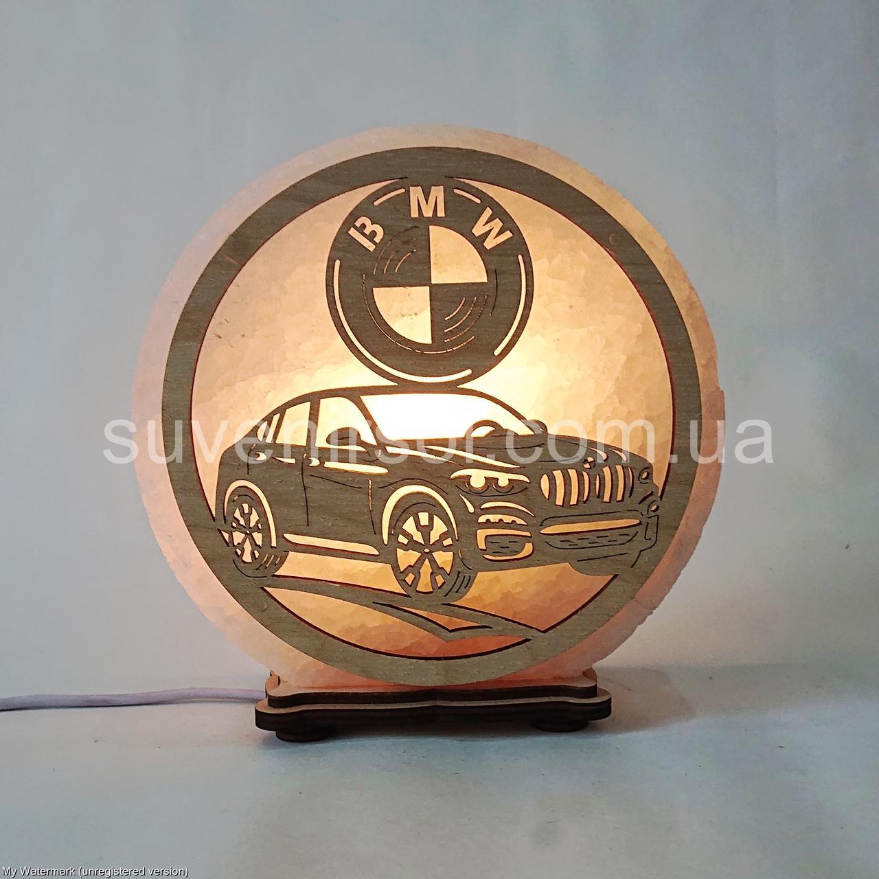 Соляной светильник круглый BMW