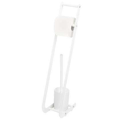 Стійка туалетна для туалетного паперу та щітки біла AWD02071450