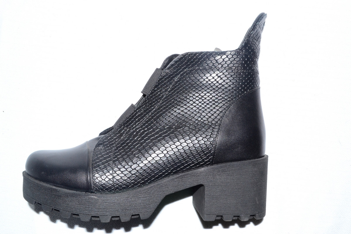 af41f8b09 Модные ботинки женские зимние Турция кожаные черные Molly Bessa -  Интернет-магазин