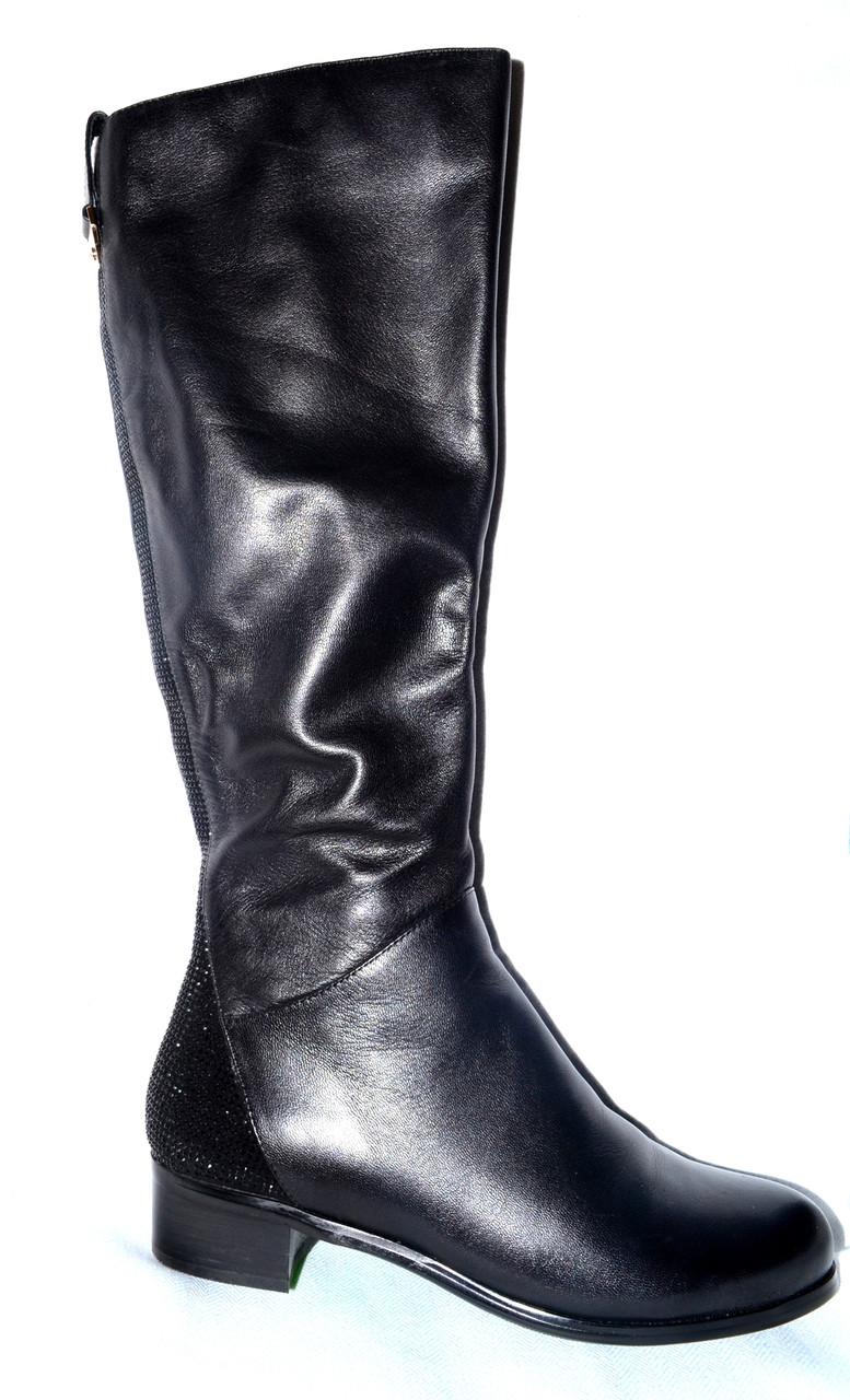 764635441 Модные сапоги женские зимние кожаные черные Berkonty со скидкой -  Интернет-магазин