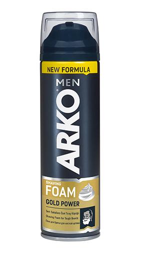 Пена для бритья ARKO Gold Power для жесткой щетины (200мл.)