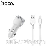 АЗУ Hoco Z23 grand style with Micro (2USB, 2.4A) white