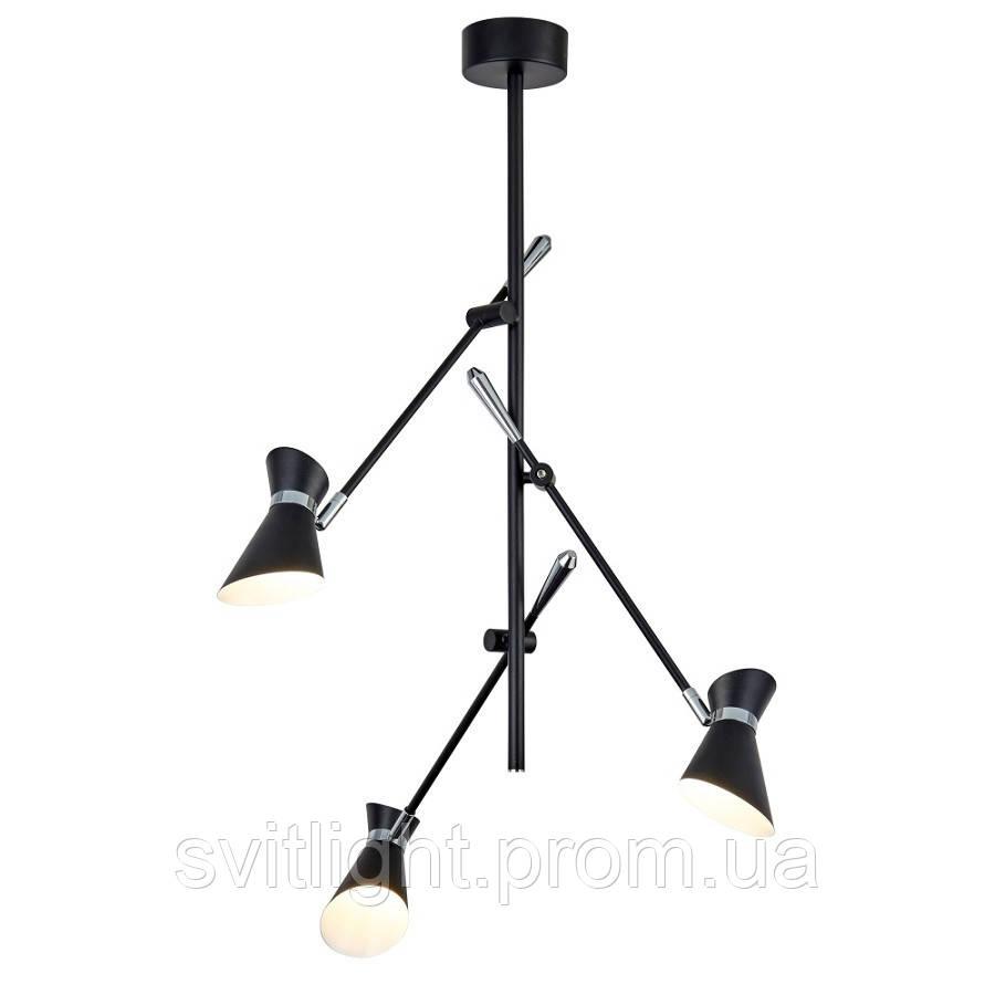 Люстра на 3 плафона (Черный) 5943-3bw Searchlight