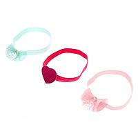 Набор детских повязок на голову разных цветов с сердечком и бантиками фирмы Claire's