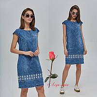 Женское джинсовое платье до колен  MNФ-42
