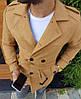 Мужское пальто пиджак шерстяной топовое качество бежевое