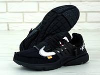 Кроссовки в стиле Off White x Nike Air Force 1 Black мужские