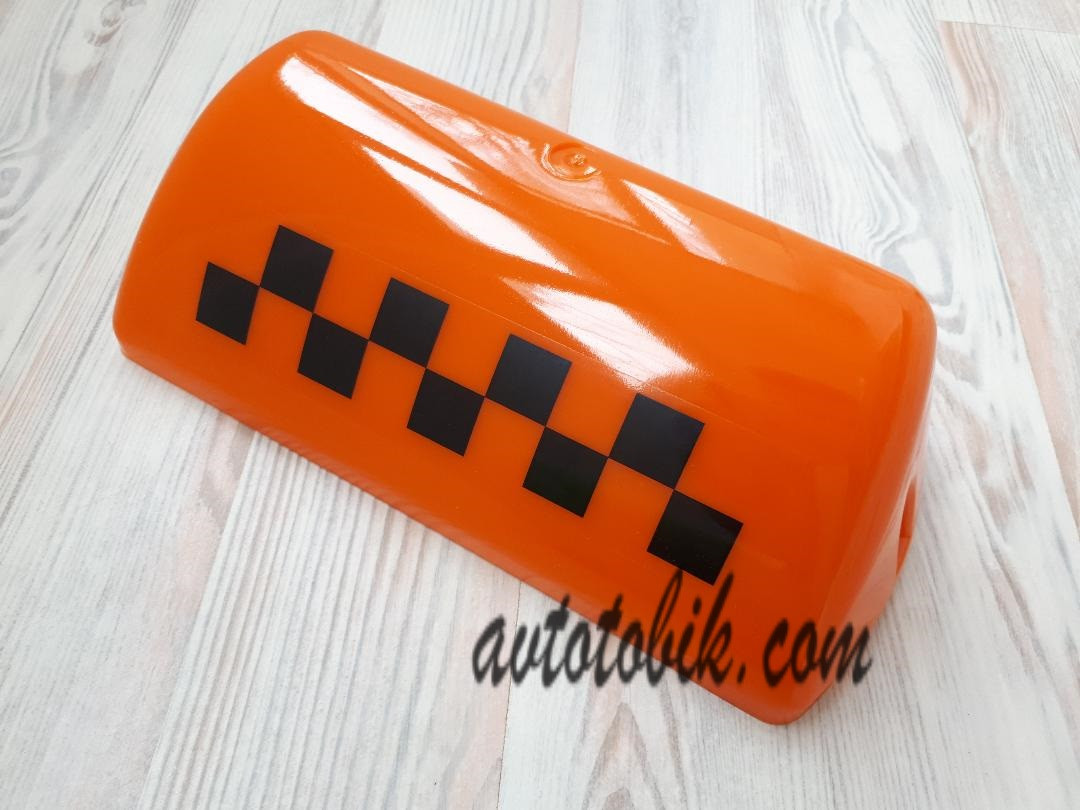 Стекло шашки такси, оранжевое